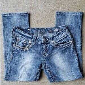 Miss Me Cuff Capri Jeans.  Size 26